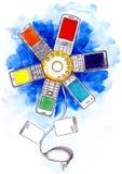 framförd mobil bild för anslutning 3d Royaltyfri Fotografi