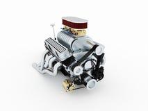 Framförd motor som isoleras Royaltyfri Bild