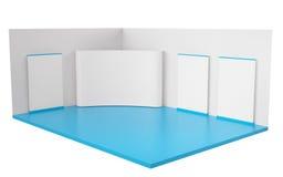 framförd standhandel för utställning 3d illustration Royaltyfri Fotografi