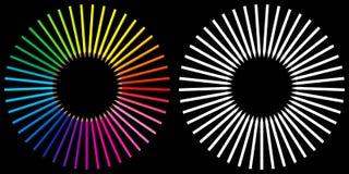framförda färgglada pensils 3d Arkivfoto
