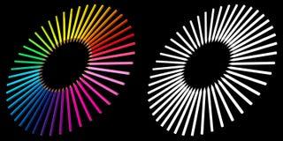 framförda färgglada pensils 3d Arkivbild