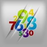 framförda illustrationnummer för bakgrund 3d Stock Illustrationer