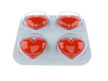 framförde illustrationen isolerade pills för förälskelse 3d white Royaltyfri Bild