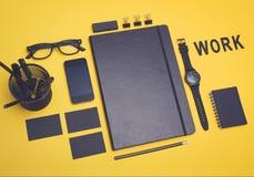 framfört arbete för begrepp 3d bild Modell för kontorsobjektdesign Arkivfoto