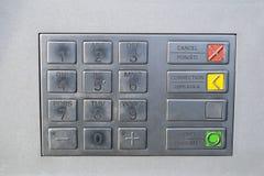 framfört bildtangentbord för 3d atm Tangentbord av den automatiserade kassörmaskinen Royaltyfri Bild