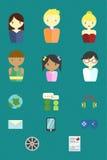 framfört illustrationfolk för symbol 3d Arkivbild