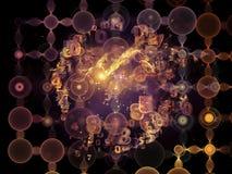 Framflyttning av datamolnet Royaltyfria Bilder