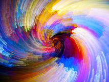 Framflyttning av Digital målarfärg Royaltyfri Foto
