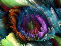 Framflyttning av färg Fotografering för Bildbyråer