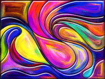Framflyttning av färg Arkivfoton