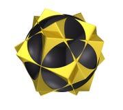 framför abstrakt geometriska 3d strukturen Arkivfoto