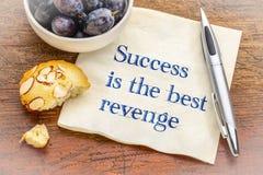 Framgång är den bästa hämnden Arkivfoton