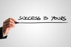 Framgång är din Fotografering för Bildbyråer