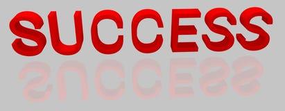 framgång Det röda ordet 3D Reflexion i glansig yttersida vektor illustrationer
