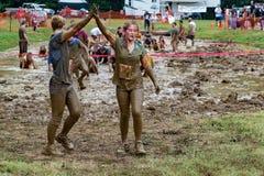 """framgång för 21. årliga Marine Mud Run †"""" Arkivbilder"""