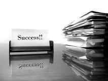 Framgång för affärskort Arkivfoton