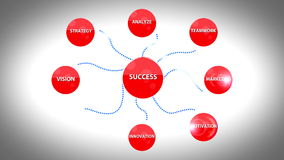 Framgång för affärsstrategi royaltyfri illustrationer