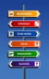 framgång för affärsstrategi till Arkivbild