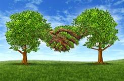 framgång för affärstillväxtpartnerskap Arkivfoton