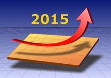 Framgång för det nya året 2015 royaltyfri illustrationer