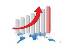 framgång för graf för affärsföretag Fotografering för Bildbyråer