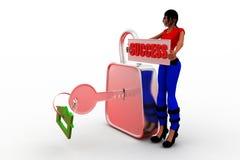 framgång för kvinnor 3d Arkivbild