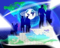 Framgång för marknadsföringsplan Arkivfoto