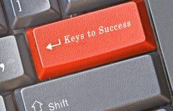 framgång för tangentbordtangenter Arkivfoton