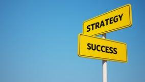 Framgång- och strategivägvisare med den snabba banan Arkivbilder