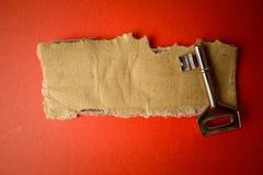 FRAMGÅNG som ÄR BEGREPPSMÄSSIG med det lantliga bruna brädet och tangent arkivfoton