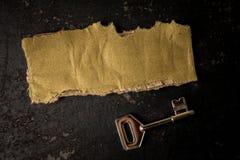 FRAMGÅNG som ÄR BEGREPPSMÄSSIG med det lantliga bruna brädet och tangent arkivbild