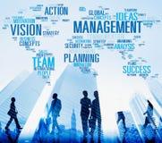 Framgång Team Business Concept för planläggning för ledningvisionhandling arkivbild