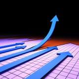 Framgånggrafen föreställer den finansiell rapporten och analys vektor illustrationer