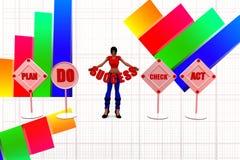 framgångillustration för kvinnor 3d Arkivbild