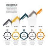 FramgångWorkflow Infographic Royaltyfria Bilder