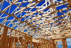 Framing. New home framing in Colorado Royalty Free Stock Images
