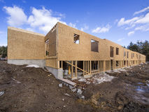 Framing construction of a  new house Royalty Free Stock Photos