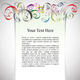 Framing with curly colorful ribbons for greetings Royalty Free Stock Photo