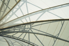 Framing in the dome roof. BANGKOK, THAILAND - February 2, 2017: Framing in the dome roof texture structure ceiling, background Royalty Free Stock Images