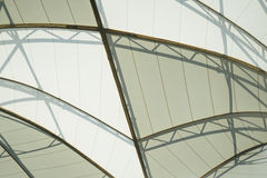 Framing in the dome roof. BANGKOK, THAILAND - February 2, 2017: Framing in the dome roof texture structure ceiling, background Royalty Free Stock Photography