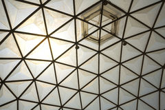 Framing in the dome structure ceiling Stock Photography