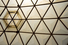 Framing in the dome structure ceiling Royalty Free Stock Image