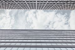 Framing With The Facade Of The Office Building stock image