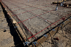Framing for a Foundation Pour of Concrete Royalty Free Stock Photo