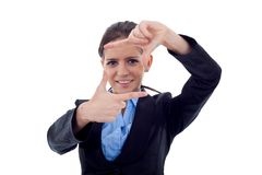 Framing hand gesture Stock Image