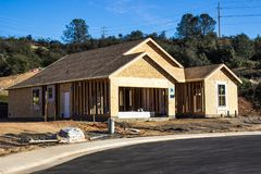Brand New Construction Of Single Family Home Royalty Free Stock Images