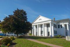Framingham老城镇厅,马萨诸塞,美国 库存照片