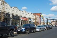 Framingham霍利斯街,马萨诸塞,美国 免版税库存图片