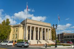 Framingham City Hall, Massachusetts, USA. Framingham City Hall in downtown Framingham, Massachusetts, USA stock image