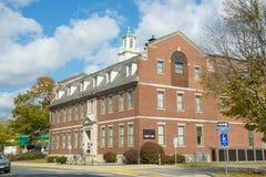 Framingham historisk byggnad, Massachusetts, USA royaltyfri fotografi